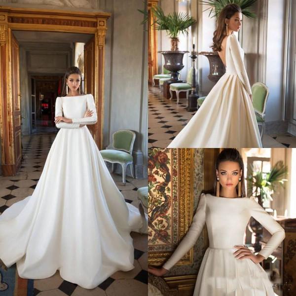 Rochie de mireasă cu mânecă lungă