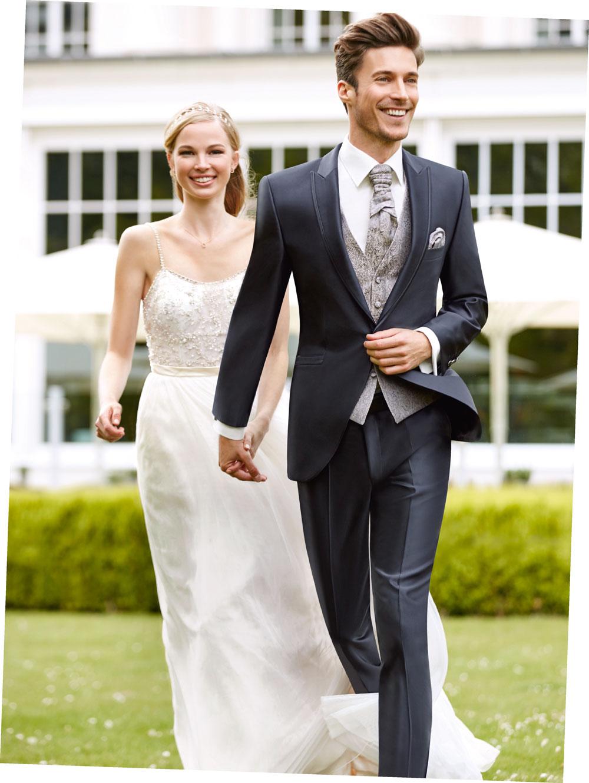 costum de nunta gri inchis