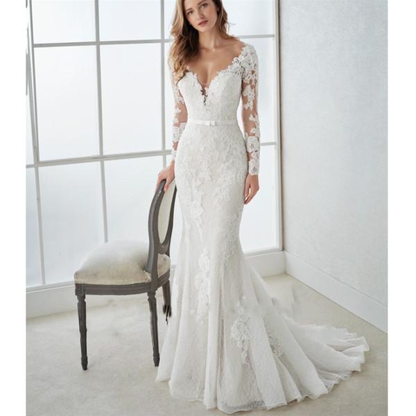 Rochie de mireasă cu mâneci