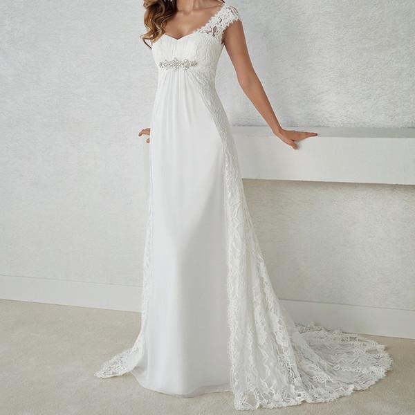 Rochie de mireasa imperiala
