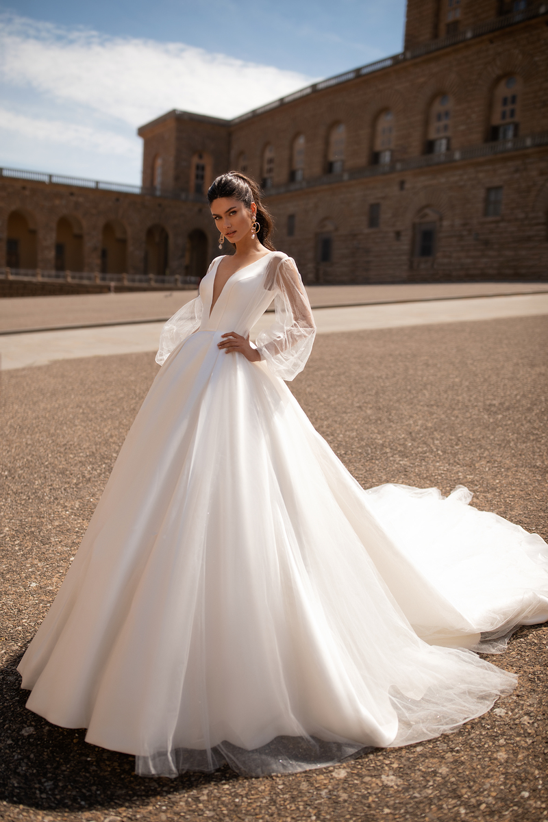Rochii de mireasa simple Timisoara, rochia Eugenia